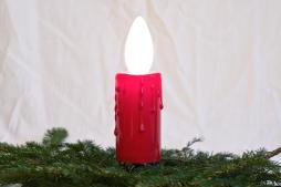 Adventskranzlichterkette, 4 austauschbare Kerzenlampen, E14 230V/15W, Tropfenschaft