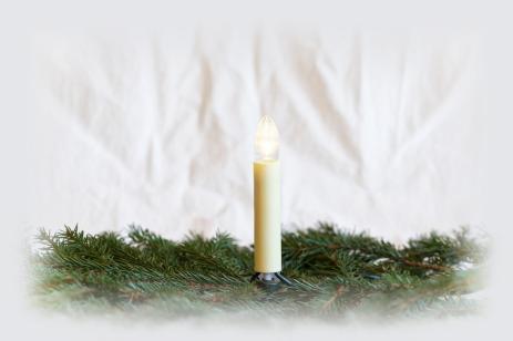 LED Lichterkette austauschbare Toplampen, 8-34V, LED warm weiß