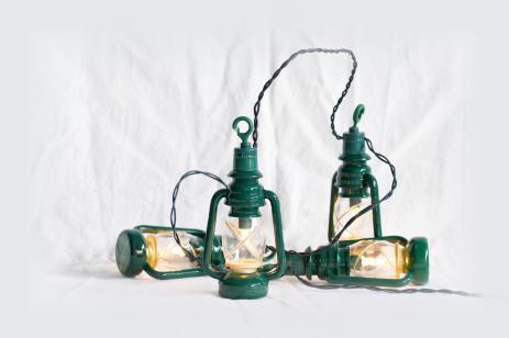 """""""Petrol Laternen"""" austauschbare Toplampen E10, klar, geriffel"""